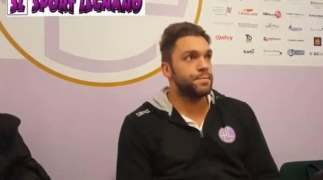 Stefano Panigada nel dopopartita di Legnano-Saronno 1-0