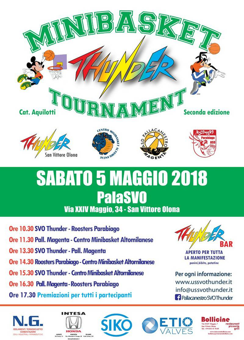 Minibasket Thunder Tournament S. Vittore Olona