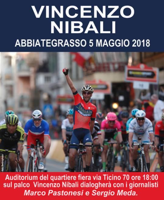 Vincenzo Nibali ad Abbiategrasso