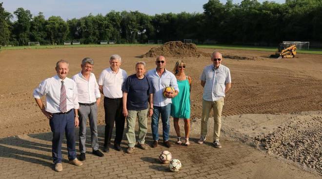 Al via i lavori al campo del Canegrate Calcio