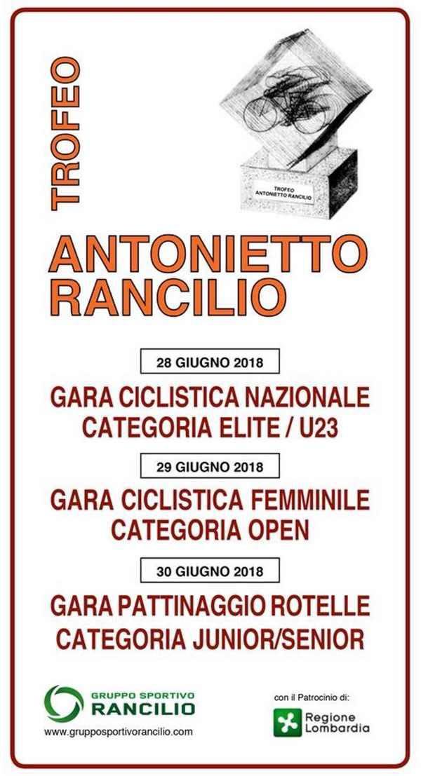 Trofeo Antonietto Rancilio 2018