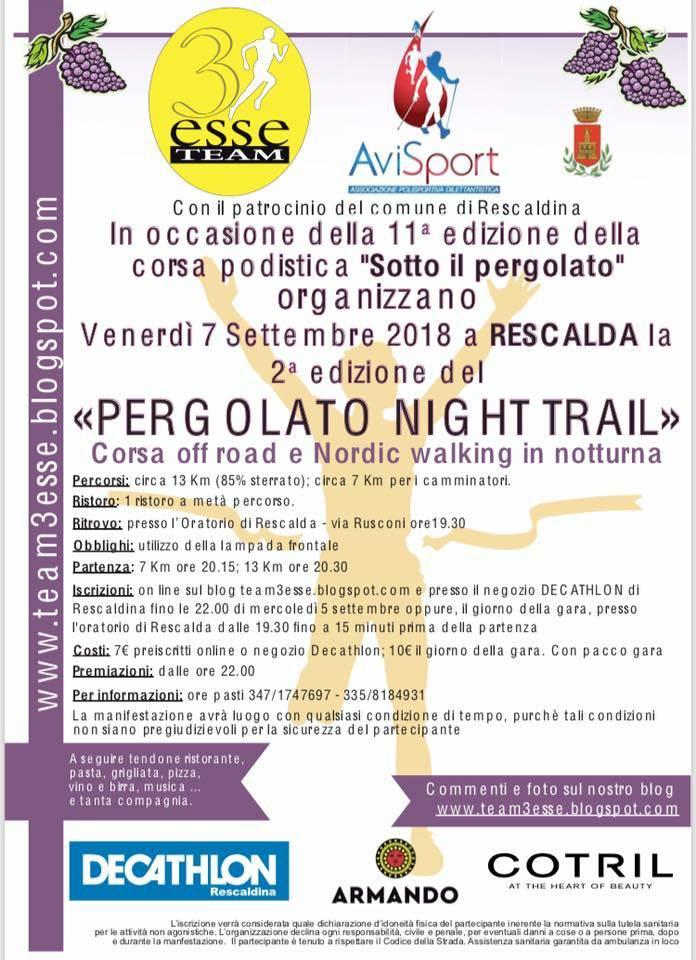 Pergolato Night Rail
