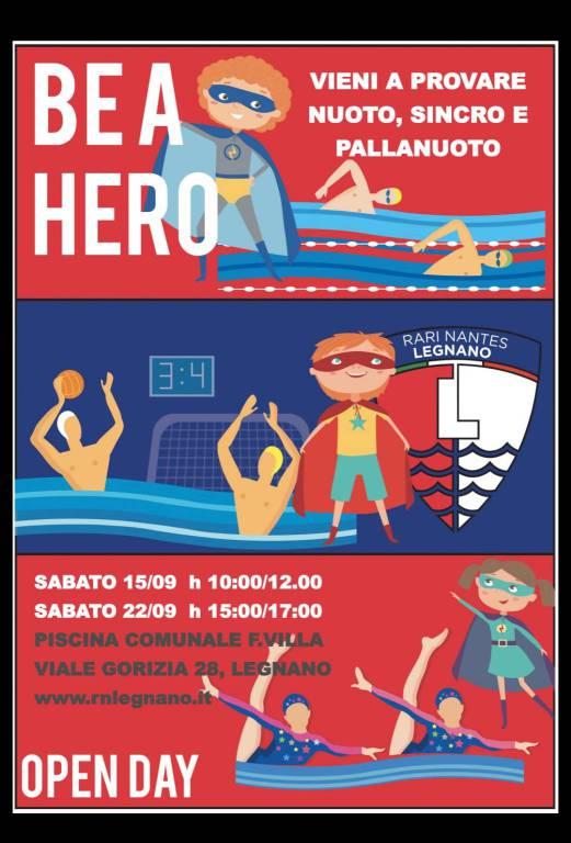 Be an Hero Open Day Rari Nantes Legnano
