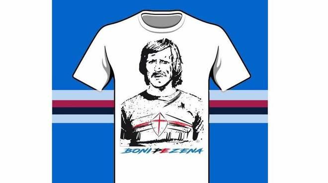 Il cuore lilla Loris Boni, ex Sampdoria e la sua maglia per Genova