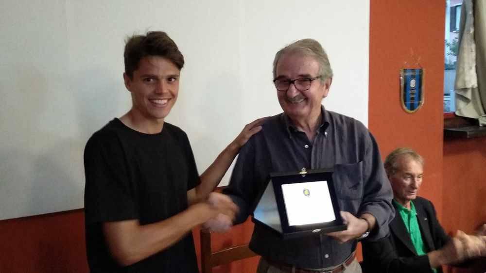 Inter Club Legnano festeggia Davide Grassini