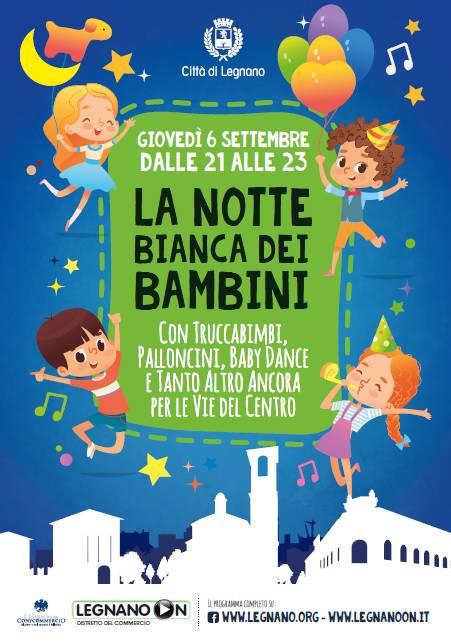 Notte Bianca dei Bambini Legnano 6 settembre 2018