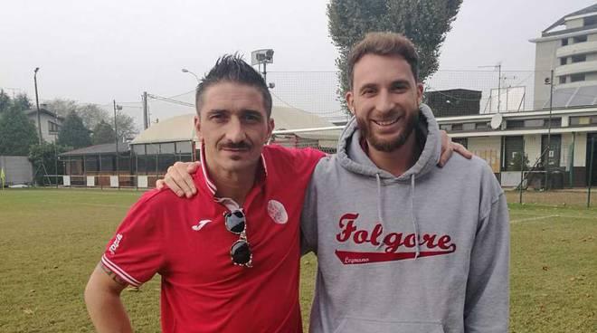 Omar Monzani preparatore dei portieri della Folgore Legnano e Andrea Colombo portiere