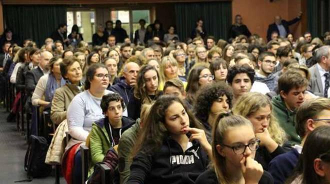 Valentina Vezzali al Liceo Galilei di Legnano