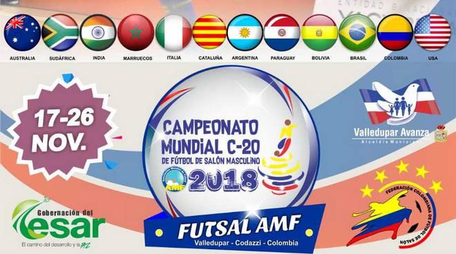 Campionato Mondiale di football sala Colombia 2018