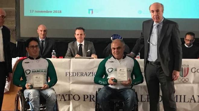 Due atleti del team handbike Rancilio premiati dalla Federazione Ciclistica italiana