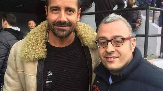 Francesco Coco in tribuna per Legnano-Varese