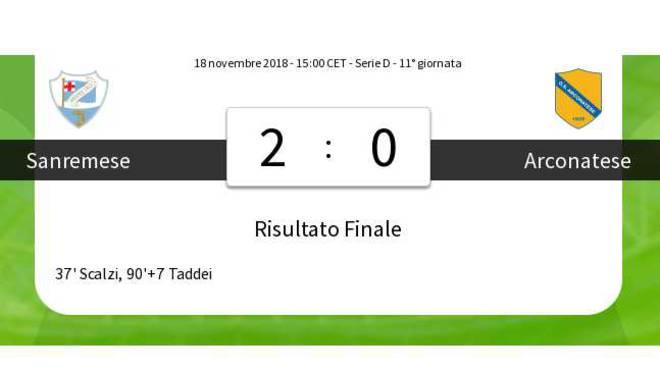 Sanremese-Arconatese 2-0
