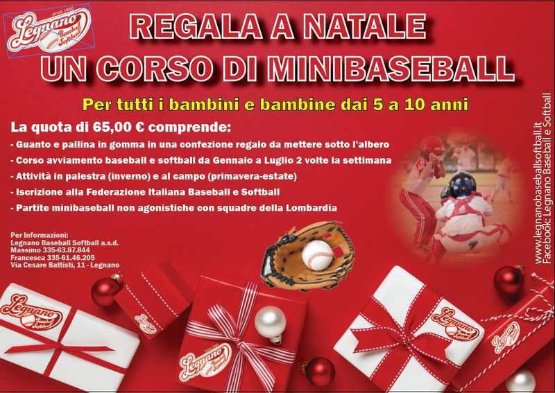 Regala un corso di minibaseball, un idea del Legnano Baseball Softball
