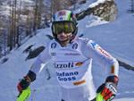 Gli Azzurri dello slalom sulle nevi del Monterosa Ski