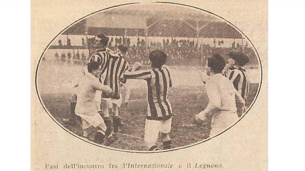Internazionale-Legnano 2-3 Coppa Lombardia 1916-17