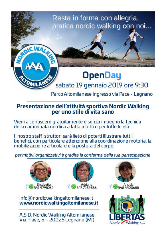 L'Open Day di Nordic Walking Altomilanese
