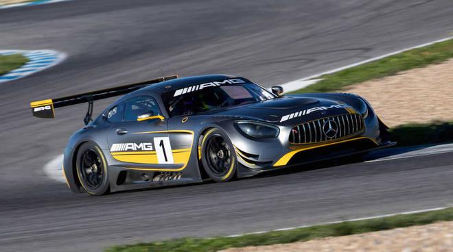 Alessio Rovera sulla Mercedes-AMG GT3 nel Tricolore Gran Turismo 2019