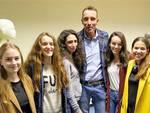 L'arbitro Paolo Mazzoleni incontra i colleghi della sezione di Legnano