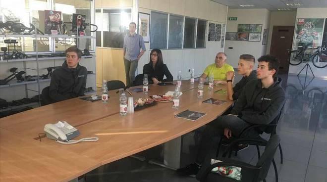 Atleti del GS Rancilio in visita alla FSA-Vision