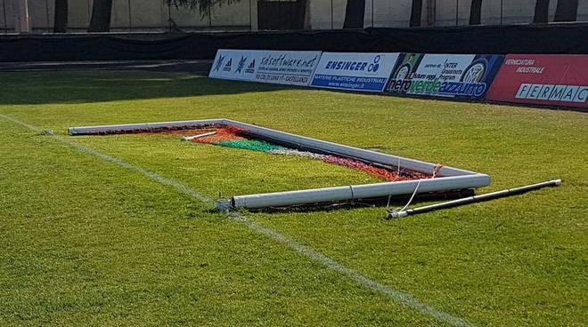 Atto di vandalismo allo stadio Provasi di Castellanza