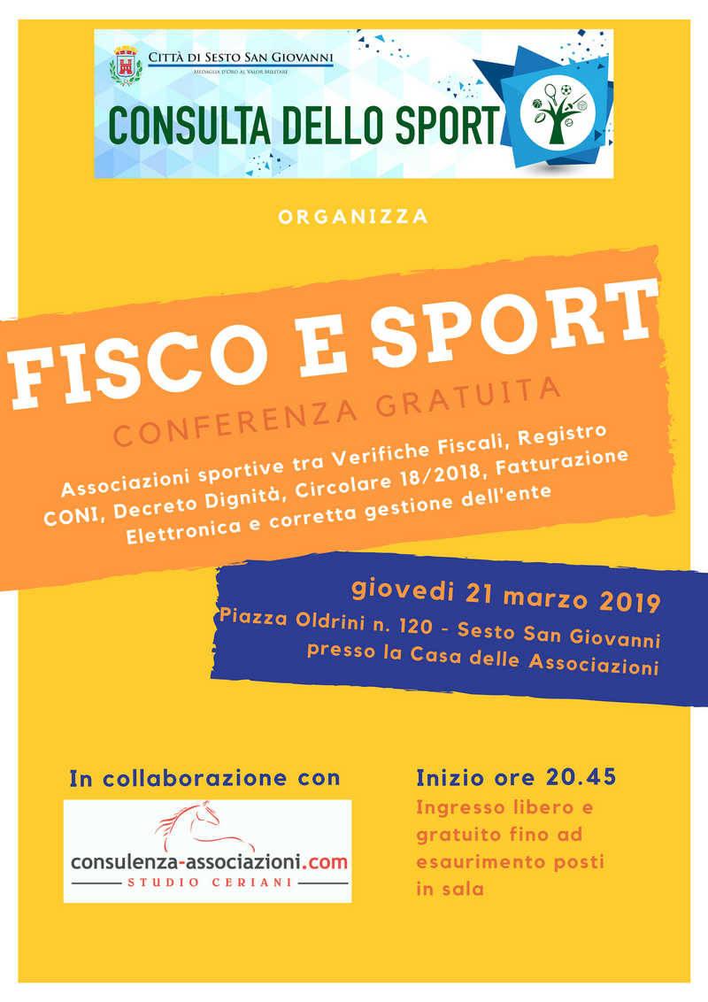 Fisco e Sport convegno a Sesto San Giovanni