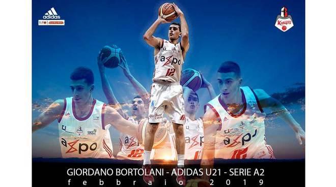 Giordano Bortolani miglior Under 21 Serie A2 febbraio 2019