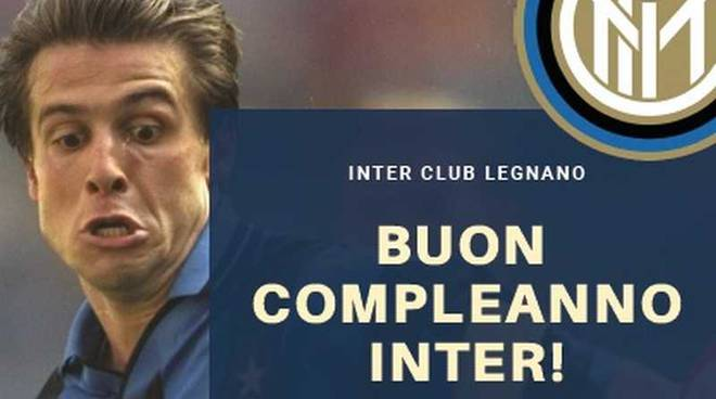 Inter Club Legnano Nicola Berti festeggia il compleanno dell'Inter