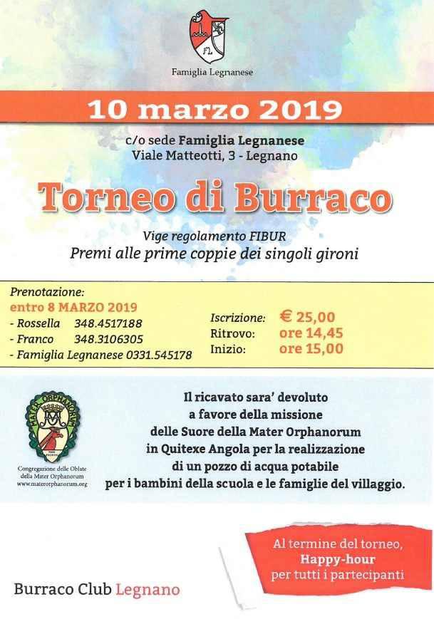 Torneo di Burracco in Famiglia Legnanese