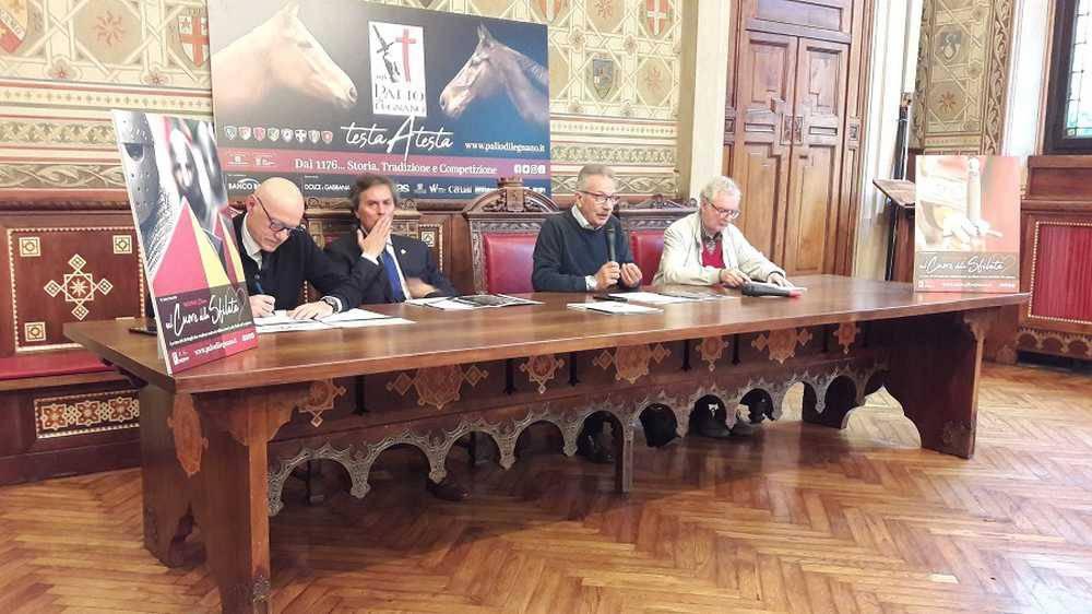 La presentazione del Palio di Legnano 2019 a Palazzo Malinverni