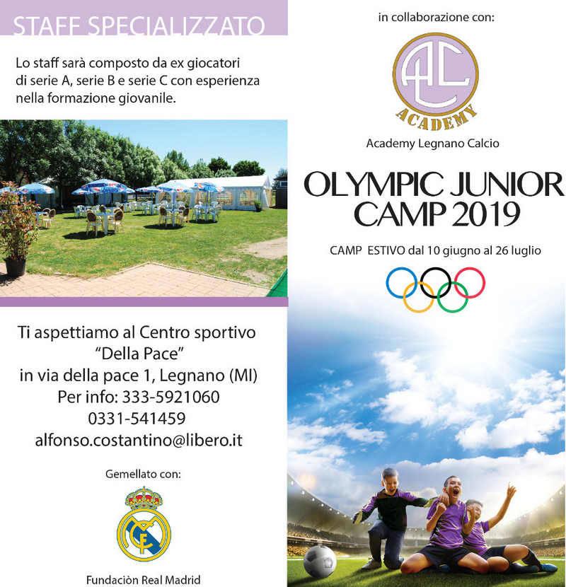 Academy Legnano Calcio Olympic Junior Camp 2019