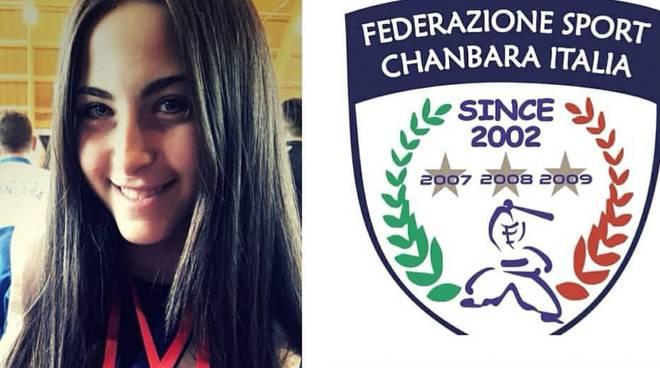 Gloria Marchesini sul podio ai campionati italiani di Chanbara