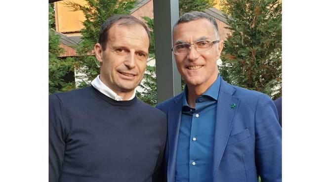 Massimiliano Allegri e Beppe Bergomi a Dairago
