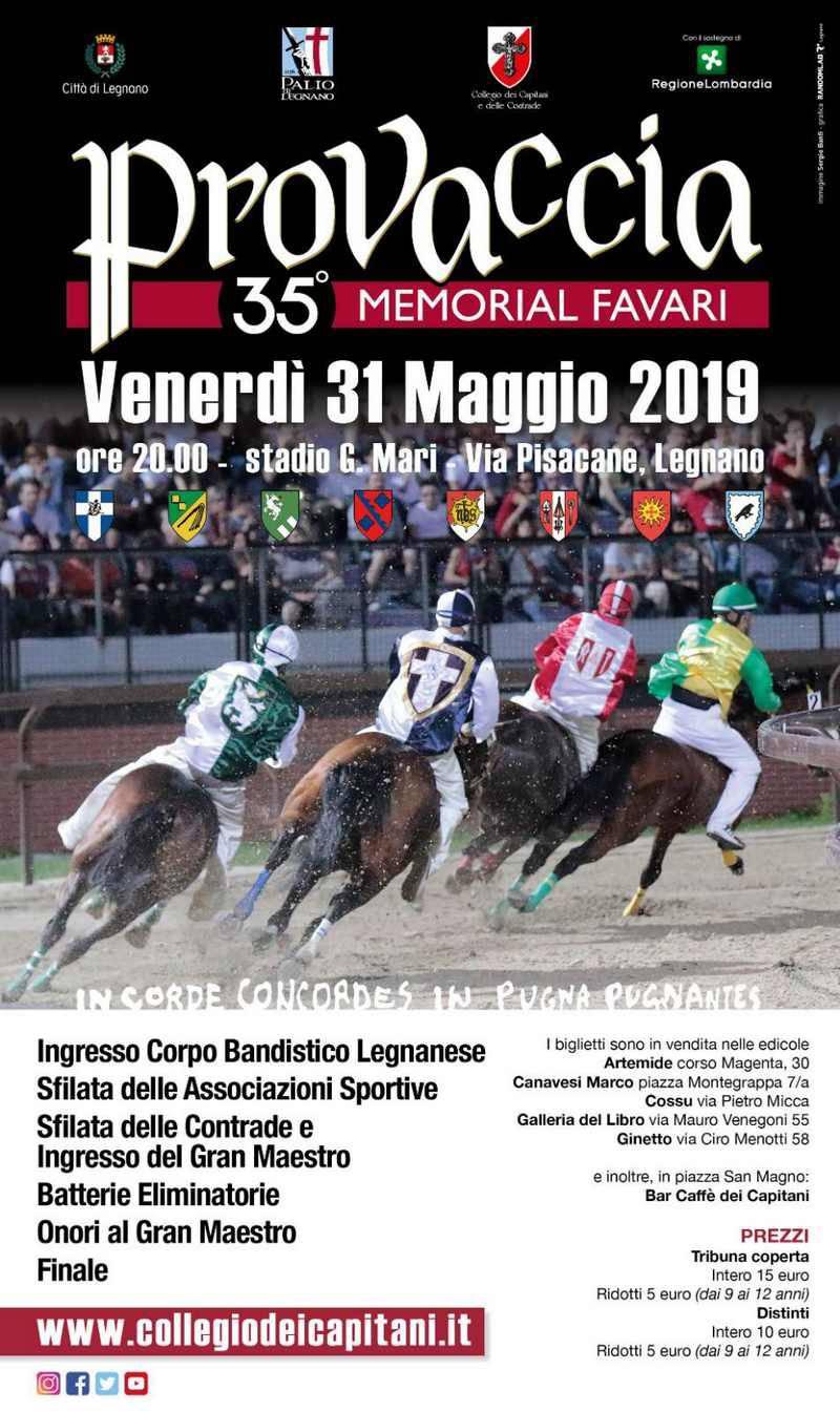 Palio di Legnano Provaccia 2019