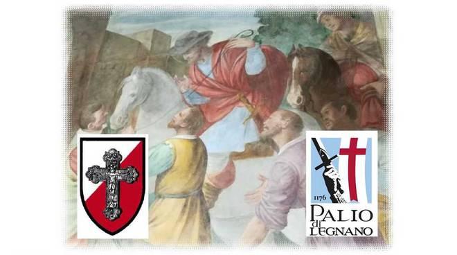 Palio di Legnnao Veglia della Croce presentazione restauro affresco Sant'Ambrogio