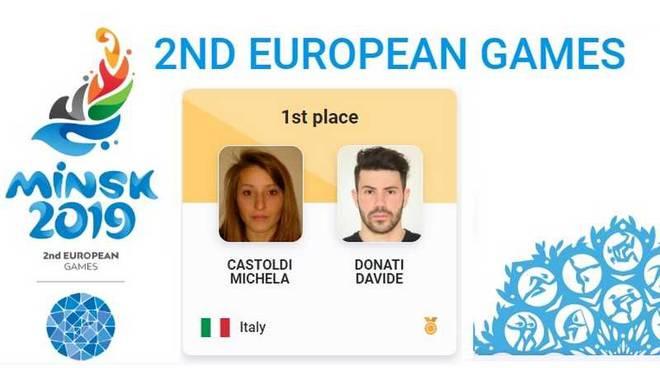 Michela Castoldi e Davide Donati oro agli European Games