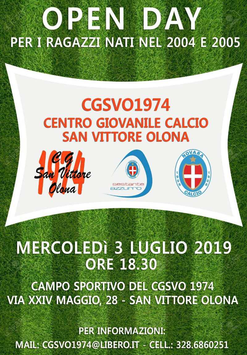 Open Day Centro Giovanile Calcio San Vittore Olona