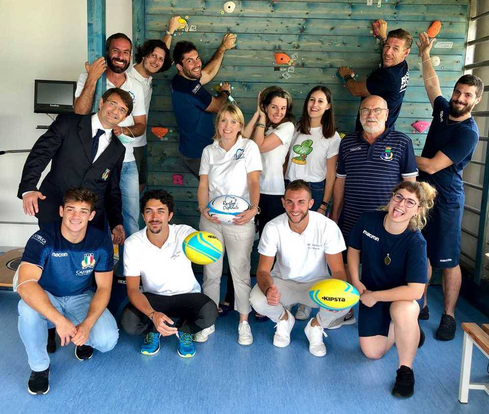 """Rugby in ospedale"" con il Rugby Parabiago"