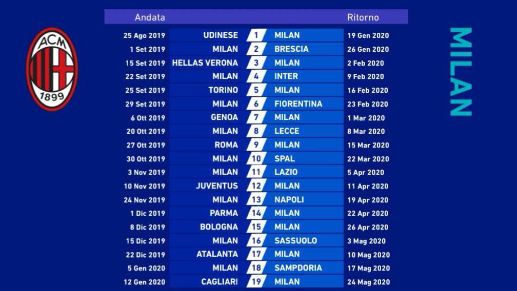 Serie A Calendario.Svelato Il Calendario Della Serie A Sportlegnano It