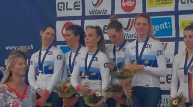 Martina Alzini Europei Under 23 ciclismo su pista