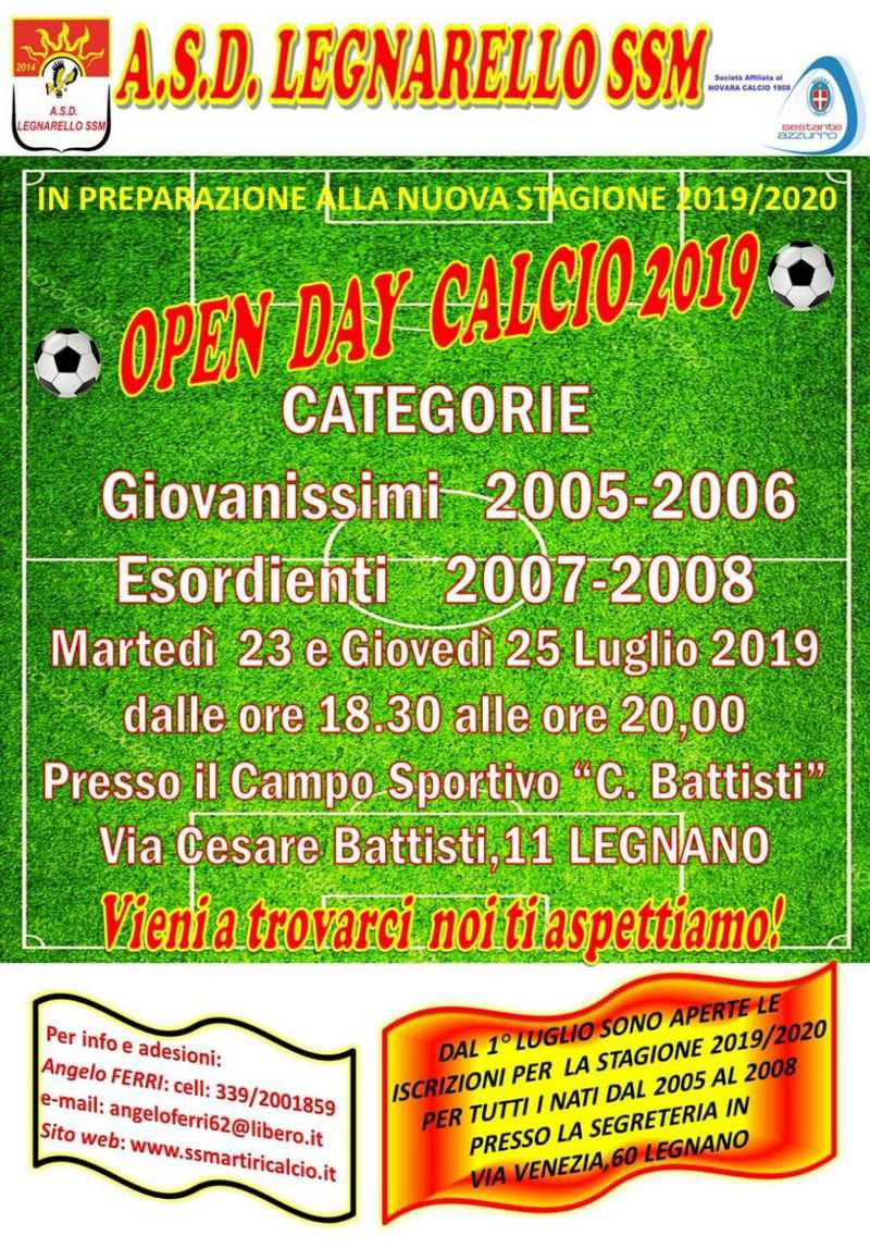 Open Day Legnarello SSM