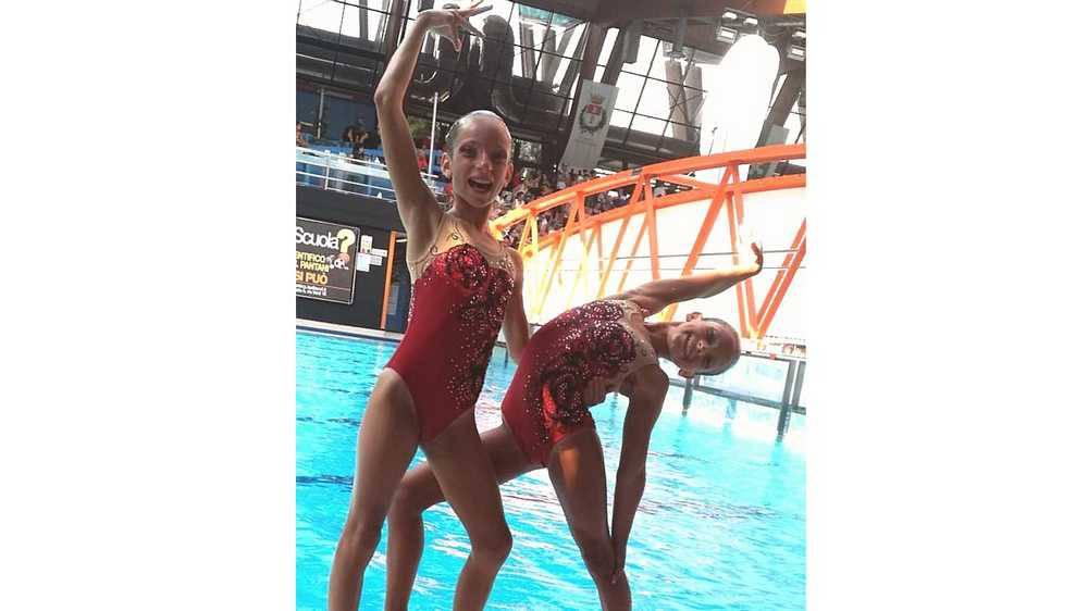 Pamela Troka e Martina Bertolini Rari Nantes Legnano Campionati Italiani estivi categoria Esordienti A