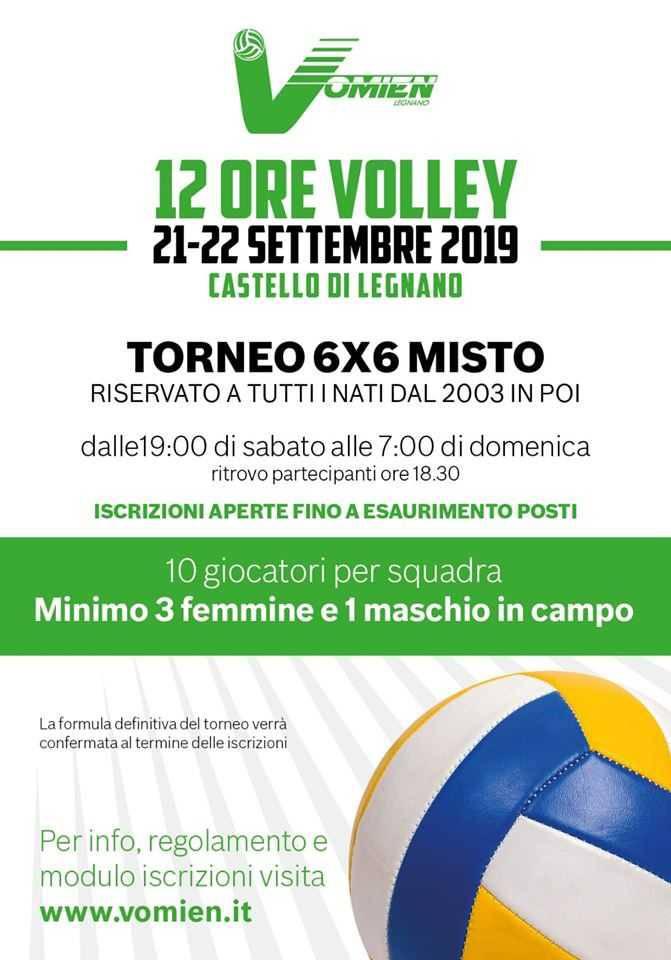 12 ore di volley al castello di Legnano