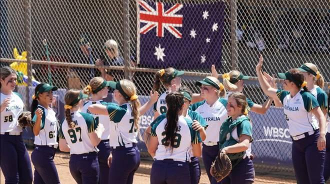 Australia Mondiale Under 19 softball