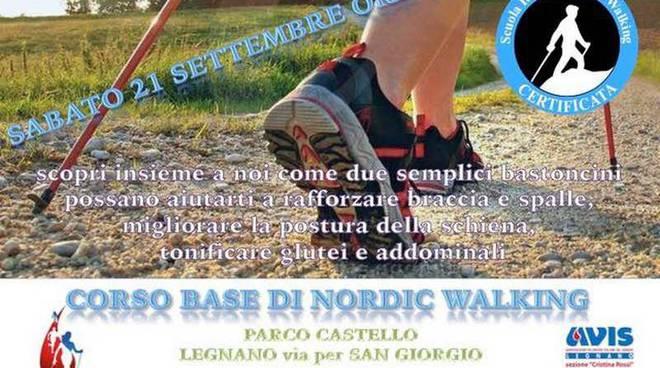 Avisport Corso base di nordic walking parco castello legnano