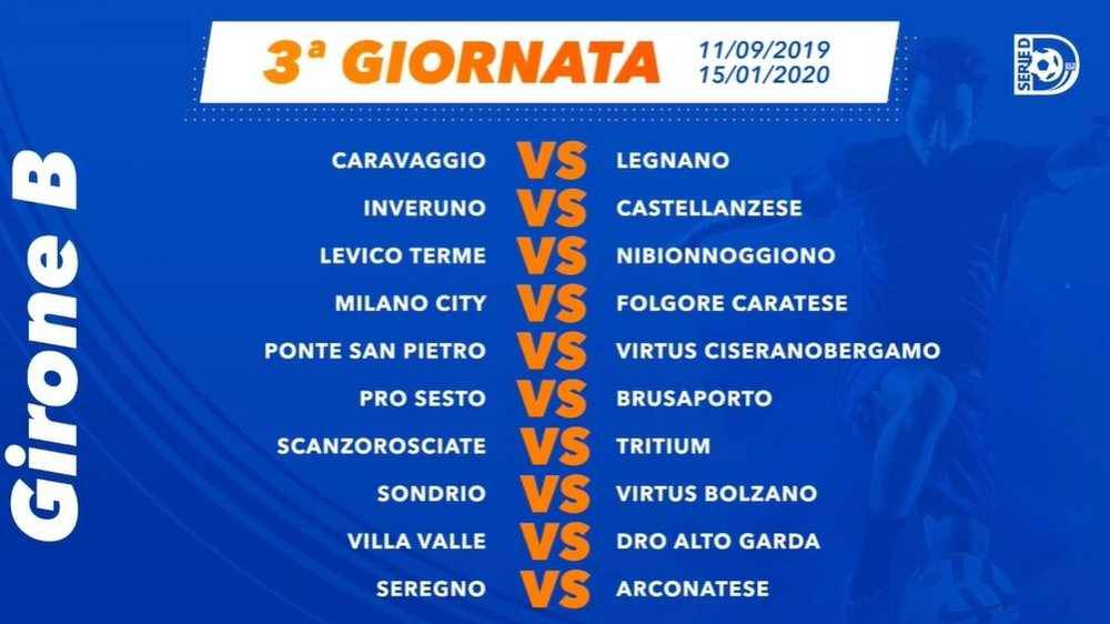 Calcio Serie D i calendari