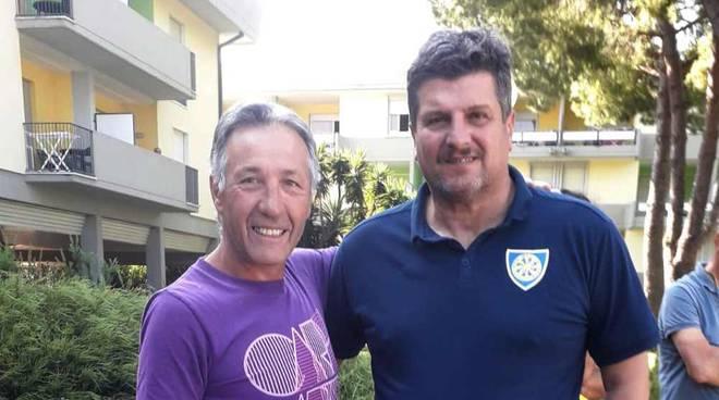 Massimo Venegoni con Mister Silvio Baldini tecnico della Carrarese