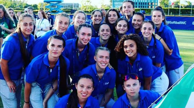 Mondiale softball Under 19 Italia-Sudafrica 10-0