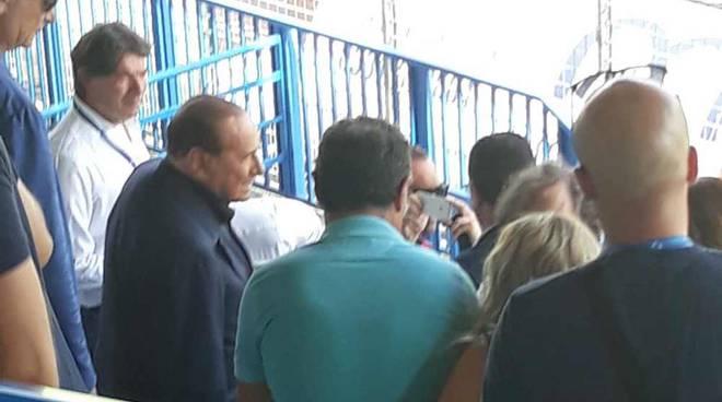 Silvio Berlusconi e Adriano Galliani allo Speroni di Busto Arsizio