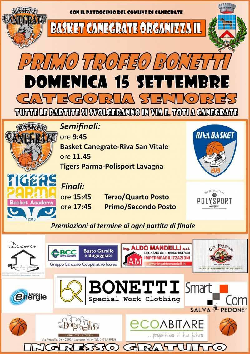 Bulldog Basket Canegrate Trofeo Bonetti