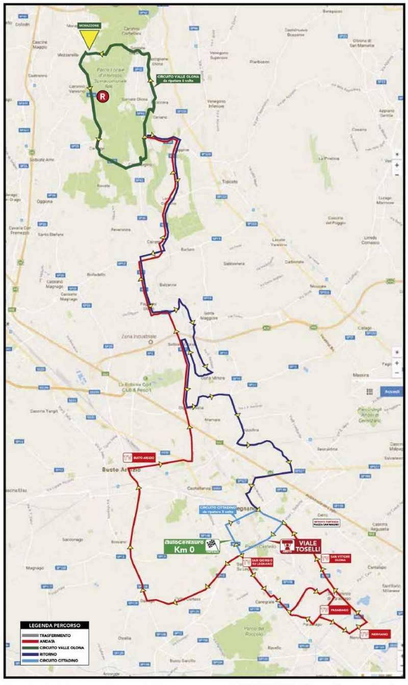 Coppa Bernocchi 2019 - percorso